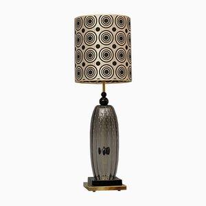 Mundgeblasene Murano Glas Tischlampe, 1970er