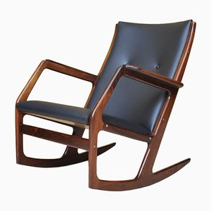 Rosewood Rocking Chair by G. Jensen for Tønder Møbelværk, 1960s