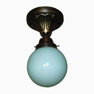 Vintage Art Deco Deckenlampe aus Messing