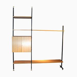 Mid-Century Iron & Formica Shelf with Brass Feet