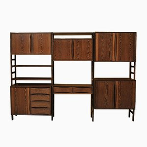 Modular Wall Unit by Oswald Vermaercke from Wenge, 1960s