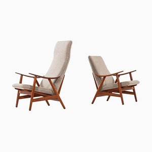 Model 10 Easy Chair by Illum Wikkelsø, 1950s, Set of 2