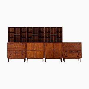 Cabinets by Orla Mølgaard-Nielsen, 1952, Set of 7