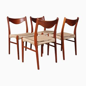 Model GS61 Dining Chairs by Arne Wahl Iversen, 1960s, Set of 4