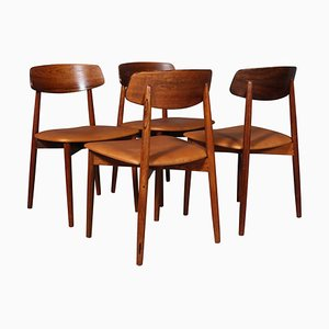 Rosewood Chairs by Harry Østergaard, 1970s, Set of 4