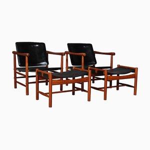 Model 506 Lounge Chairs by Kai Lyngfeldt Larsen, 1960s, Set of 4