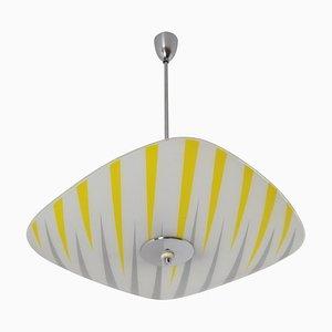 Glass Pendant Lamp, 1960s