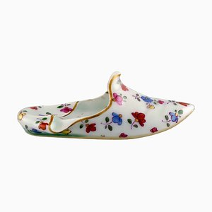 Meissen Slipper in Hand-Painted Porcelain with Floral Motifs, 19th Century