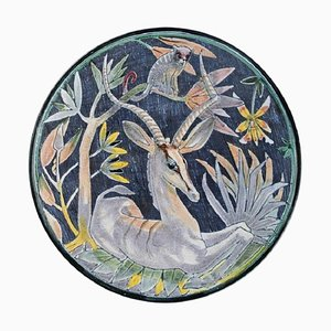 Circular Bowl or Dish with Antelope and Monkey from Tilgmans, 1957