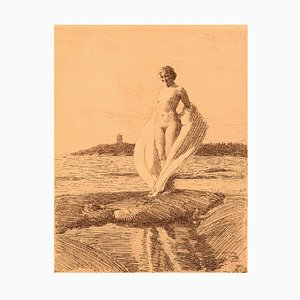 Anders Zorn, The Swan, Young Naked Woman, Facsimile Print