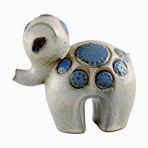 Ringo 1 Baby Elephant in Glazed Ceramic by Britt-Louise Sundell for Gustavsberg, 1960s