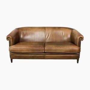 Vintage Sheep Leather Sofa