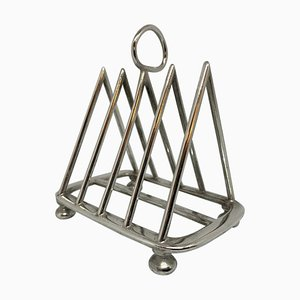 Antique Walker & Hall Silver Plate Toast Rack from Walker & Hall