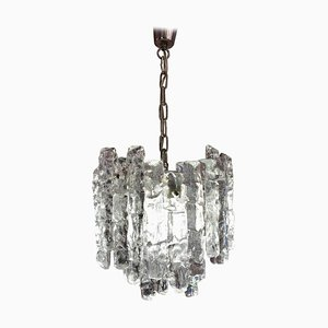 Small Kalmar Two-Tier Iced Glass Chandelier, 1960s