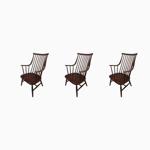 Large Model Grandessa Armchairs by Lena Larsson, 1959, Set of 3