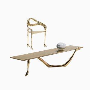 Tavolino basso-scultura Dalí Leda di BD Barcelona