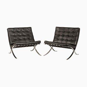 Sedie Barcelona di Ludwig Mies van der Rohe per Knoll, anni '80, set di 2