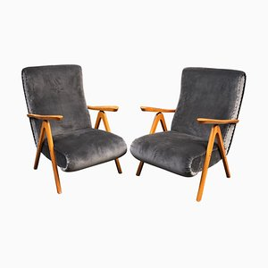 Reclining Armchairs, 1950s, Set of 2