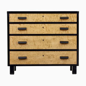 Early 20th Century Scandinavian Birch Chest Of Drawers
