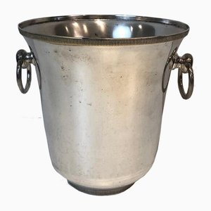 French Silver-Plated Champagne Bucket, 1940s