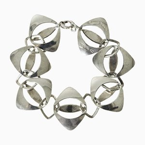 Silver Bracelet by Theresia Hvorslev for Alton, 1973