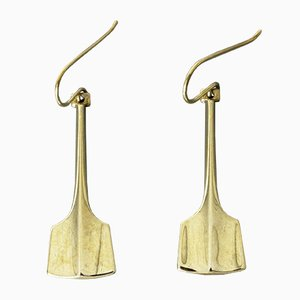 Silver Earrings by Bjørn Sigurd Østern for David Andersen, 1960s, Set of 2