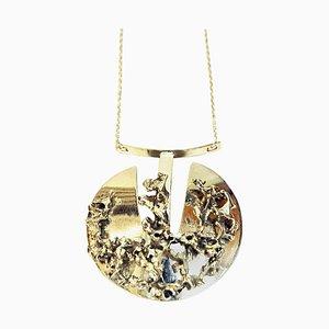 Brutalistische Halskette aus Silber von Valon Kulta & Hopea, Finland, 1970er