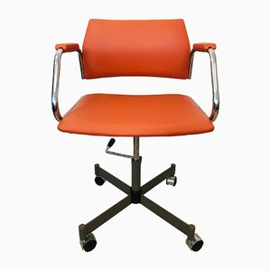 Orange Office Chair from Kovona, 1970s