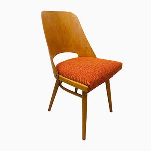 Orange Model 514 Chair by Lubomir Hofmann for TON, 1960s