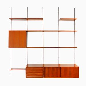E22 Teak Shelving System by Olsvaldo Borsani for Tecno, 1951