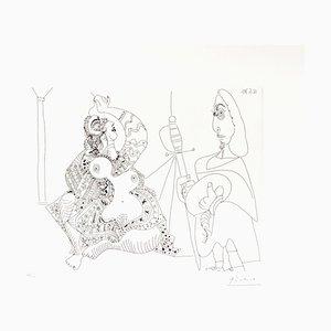 Pablo Picasso, 12.5.70, Radierung, 1970