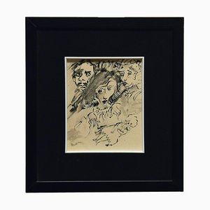 Mino Maccari, The Sorceress, Drawing, 1960er