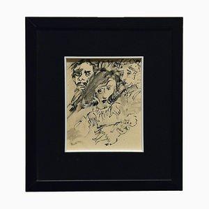 Mino Maccari, The Sorceress, Drawing, 1960s