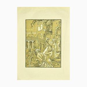 Ferdinand Bac, Die Träger der Amphoren, Lithographie, 1922