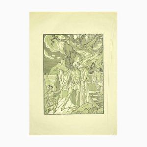 Ferdinand Bac, Das Paar, Lithographie, 1922