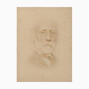 Portrait of the Paint Carlo Ferrari, Vintage Photo, 1870