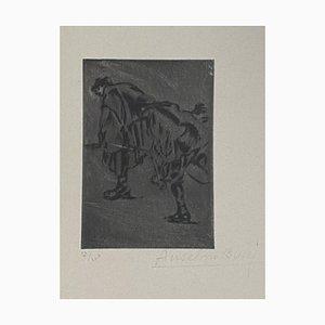 Anselmo Bucci, Militaire, Gravure, 1917