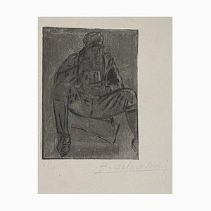 Anselmo Bucci, Militär, Radierung, 1917