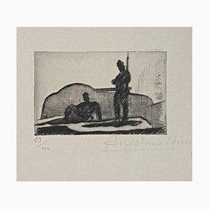 Anselmo Bucci, Military, Etching, 1917