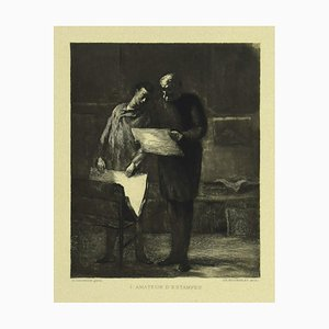 Honoré Daumier, Prints Lover, Etching on Paper, 19th Century