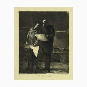 Honoré Daumier, Prints Lover, Radierung auf Papier, 19. Jahrhundert