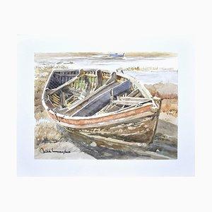 Michele Cascarano, Boat, Watercolor, 2018
