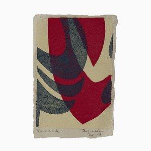 Silvano Bozzolini, Composition, Woodcut, 1958
