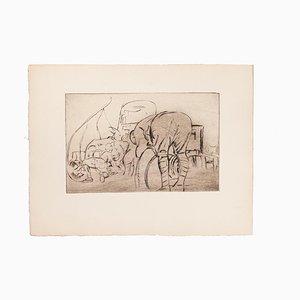 Anselmo Bucci, Military, Etching, 1919