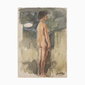 Raymond Cazanove, Figure, Watercolor, 1922