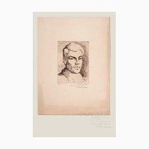 Halman Hagelstam, Porträt von Pierre Guastalla, Radierung, 1926