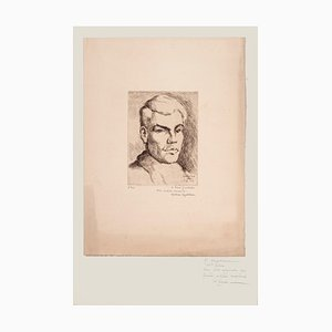 Halman Hagelstam, Portrait of Pierre Guastalla, Etching, 1926