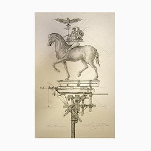 Leo Guida, Horse, Etching, 1976