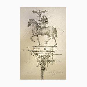 Leo Guida, Pferd, Radierung, 1976