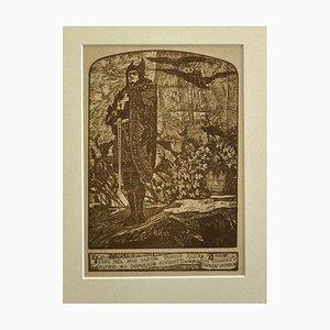 Giovanni Guerrini, Crusader, Lithograph, 1930 ca.